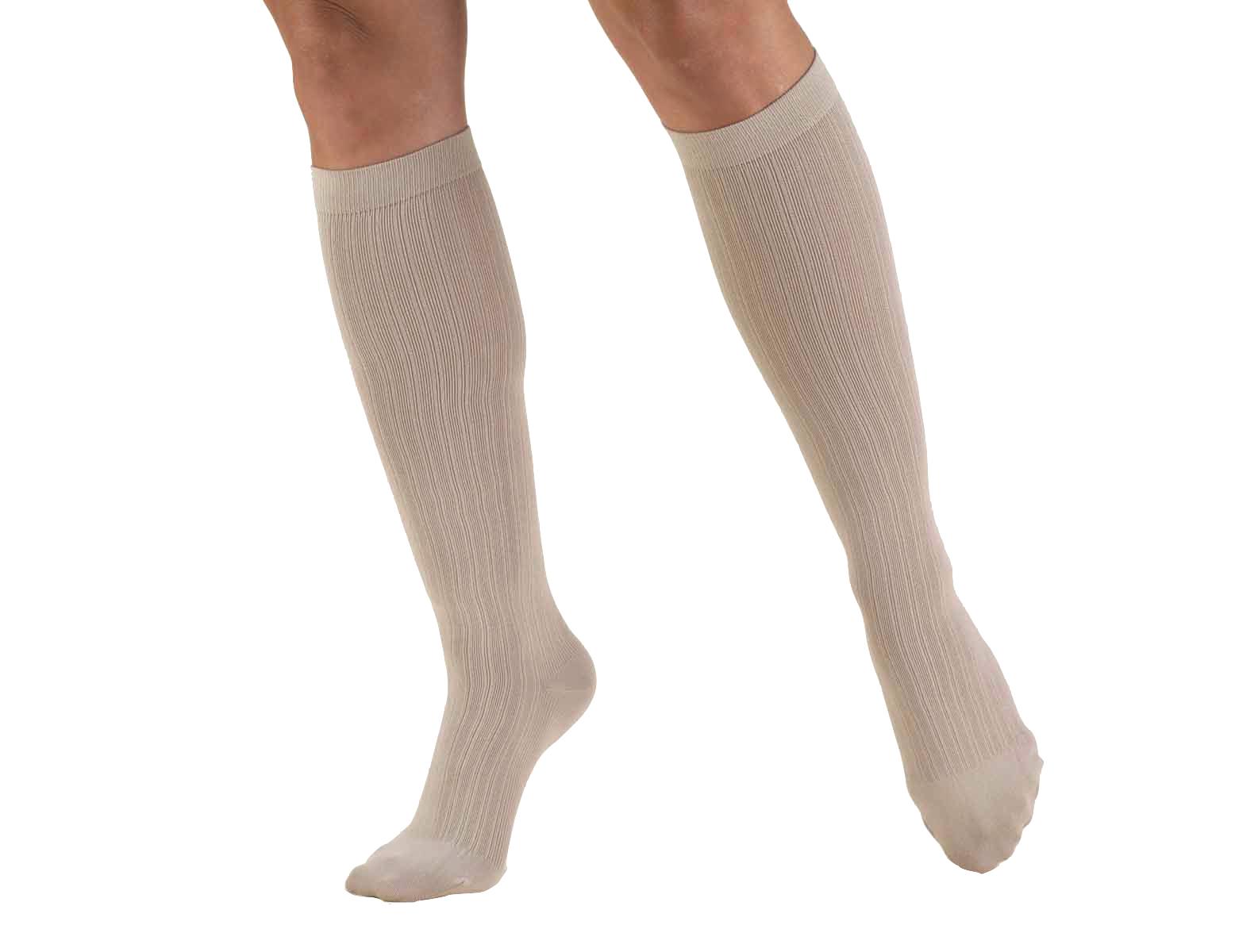 Truform 1973 (15-20 Knee High Sock, Rib Pattern)